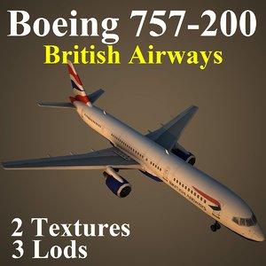boeing 757-200 baw 3d model