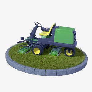 motorized grass obj