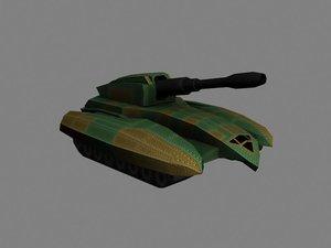 maya scifi tank