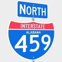 interstate 459 signs 3d model