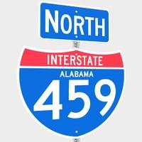 interstate 459 signs 3d model