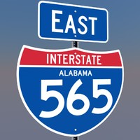 interstate 565 signs alabama c4d