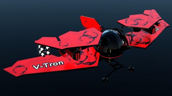 3d aircraft v-tron 3000 model