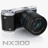 3d model samsung nx300 smart camera