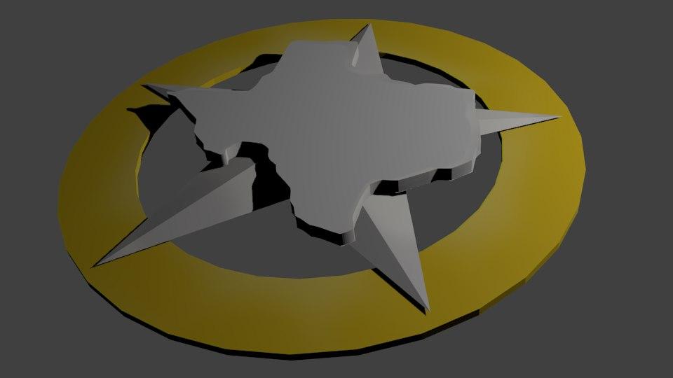 badge texas ranger 3d model