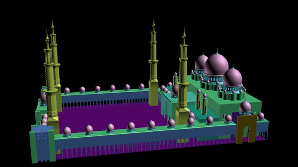 shaikh zayed mosque 3ds