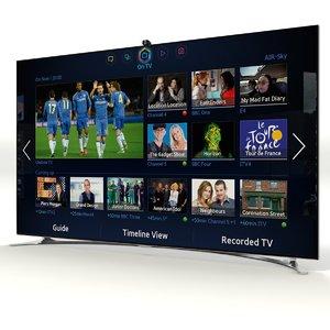 samsung smart tv f8000 3d model