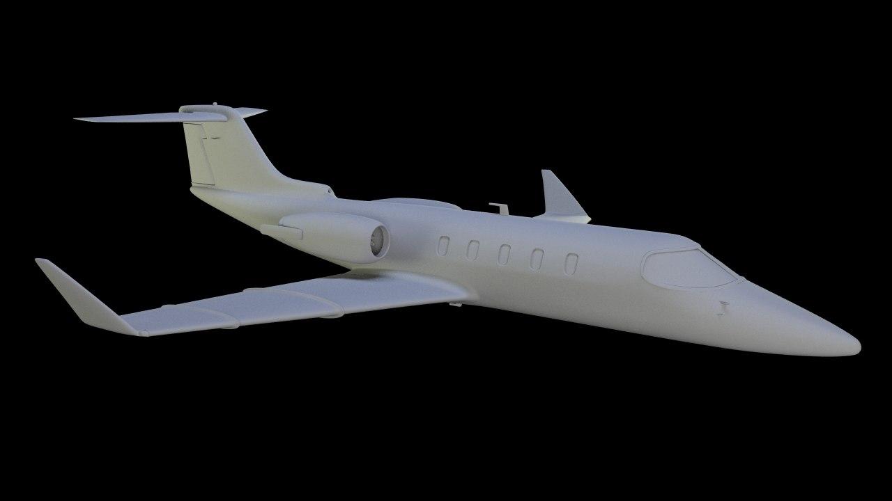 learjet jet 3d model