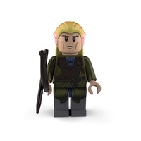 legolas character lord 3d model