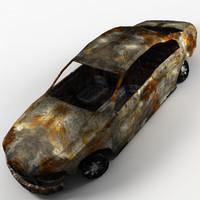 Burnt Sedan