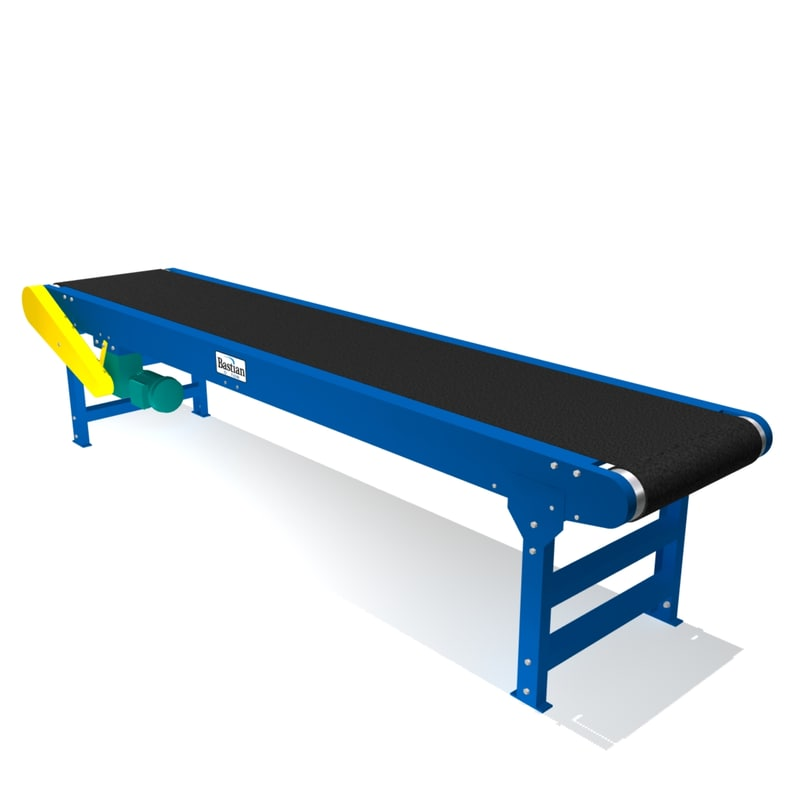heavy duty belt conveyor 3d model