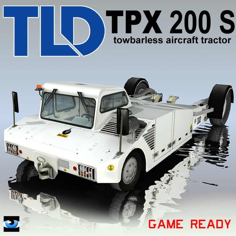 tpx-200-s towbarless aircraft tractors 3ds