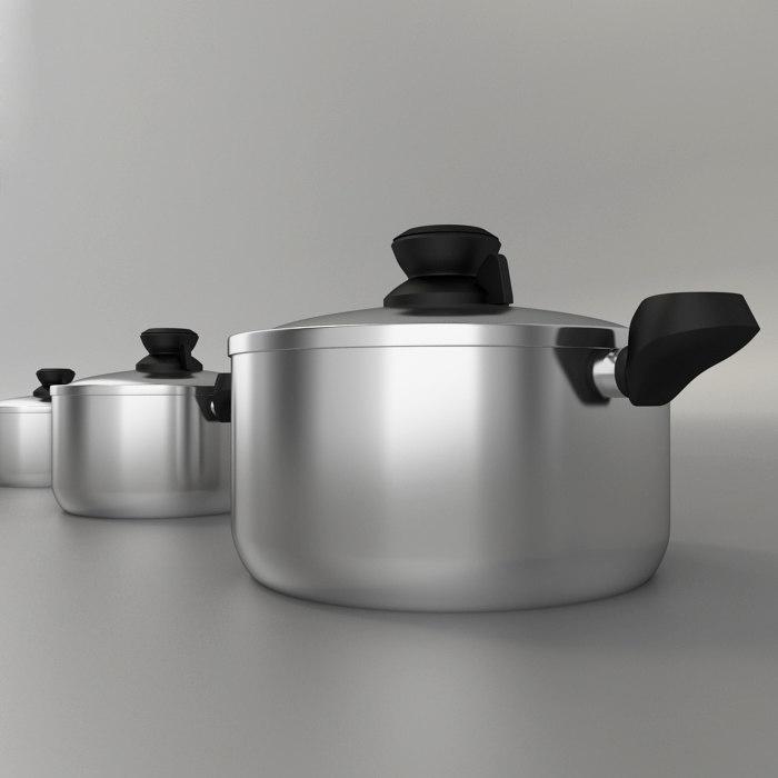 3ds pot pan cook