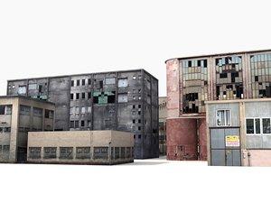 industrial building 3d model