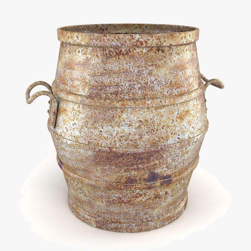 3ds max antique planter pot