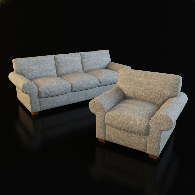 3ds max classic armchair sofa