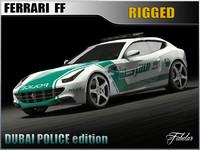 ferrari ff dubai police 3d model