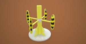 3d model powerbuoy tidal power station