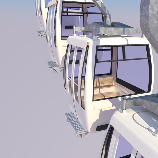 3d model cableway cars