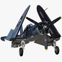 3d chance vought f4u corsair model