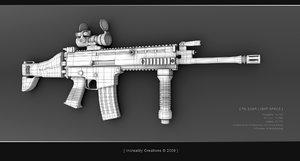 3d fnscar gun