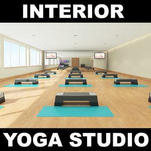 3d model of yoga studio