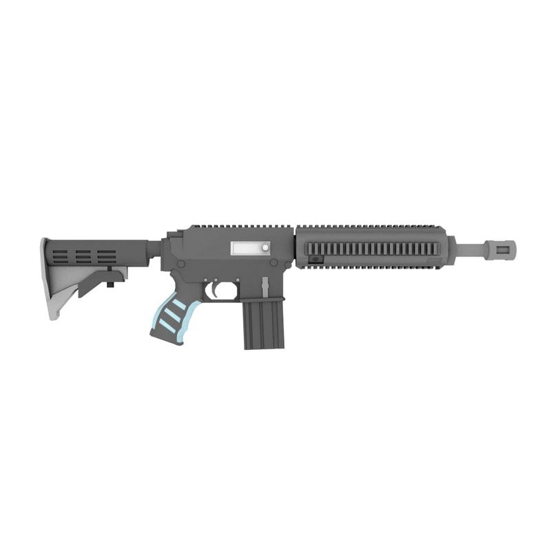 3d model hk m416 rifle