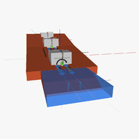 water-based freight transport 3d model
