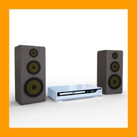 3d model of dvd player speakers