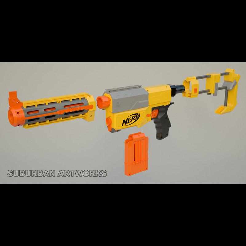 3d nerf gun