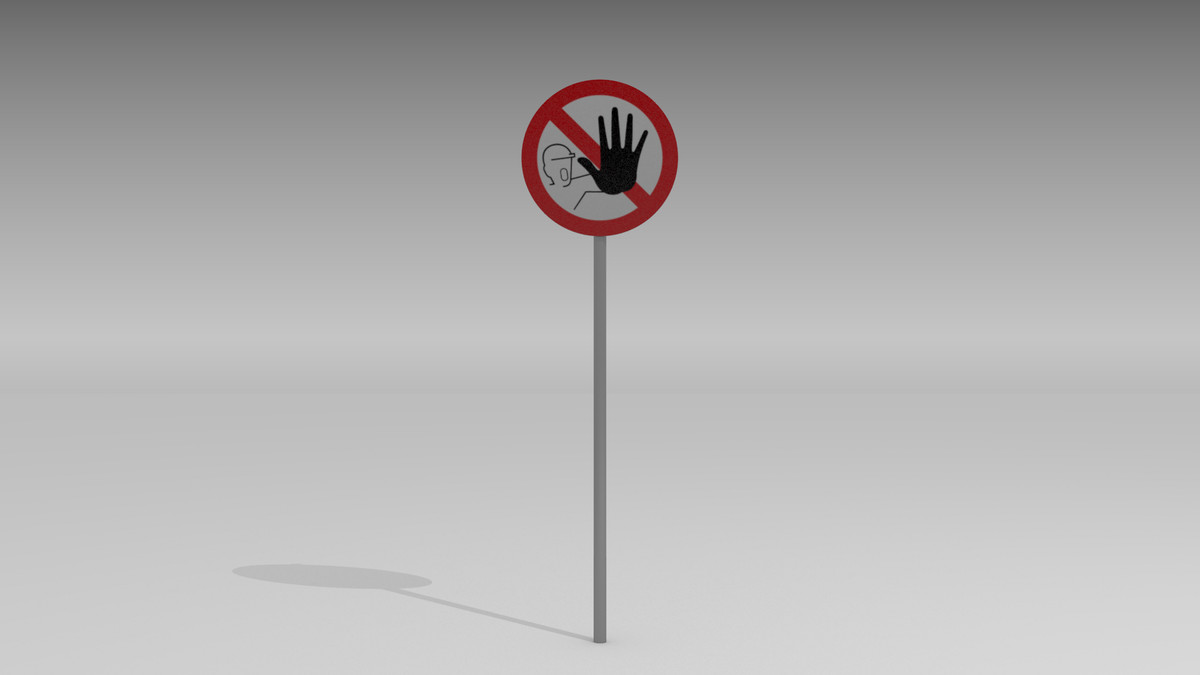admittance sign 3d obj