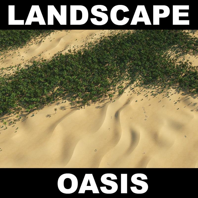 3d desert terrain landscape