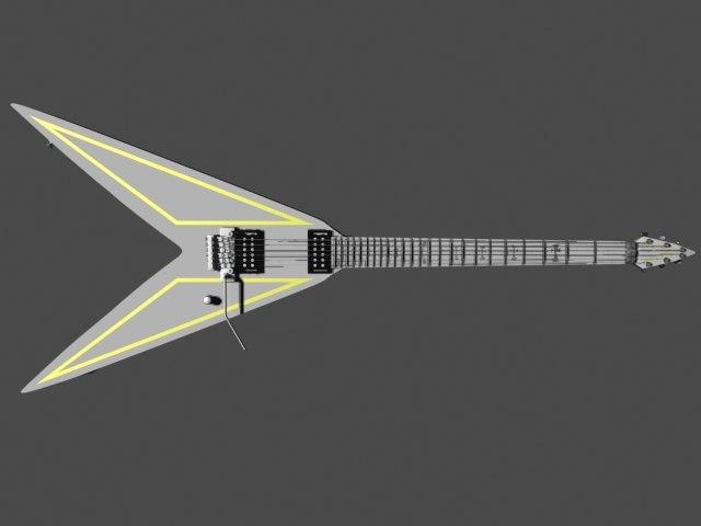 3d custom flying v electric guitar model