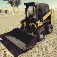 loader skid-steer skid 3d model