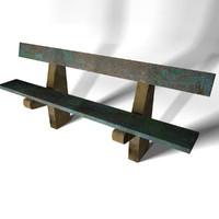 bench 4 3d model