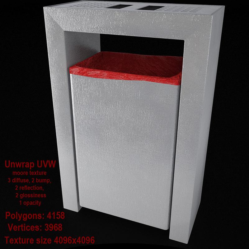dustbin 04 60ltr bin 3d model