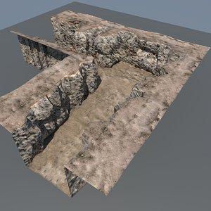 free mountain maps terrain 3d model