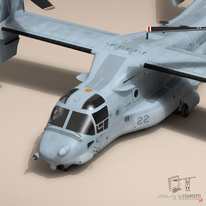 v-22 osprey marine helicopter 3ds