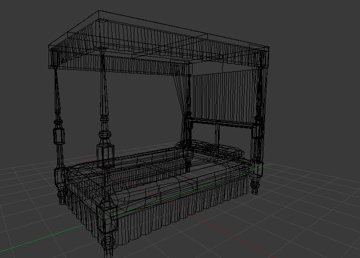 old bed 3d x