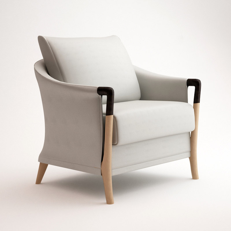 armchair chair giorgetti 3d model