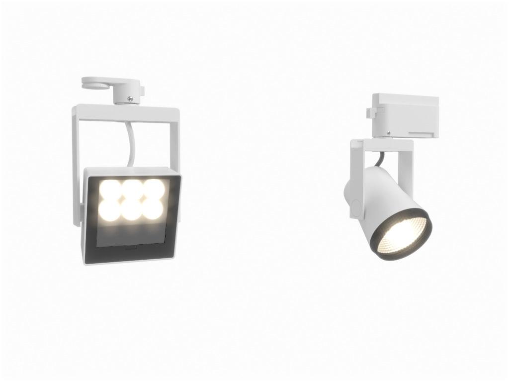 3d model erco logotec track spotlight