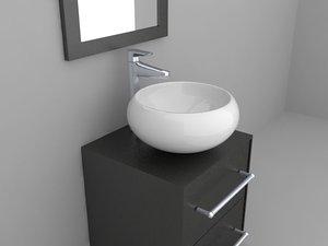 3d max modern drawers washbasin