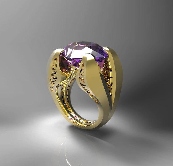 3d stone ring s model