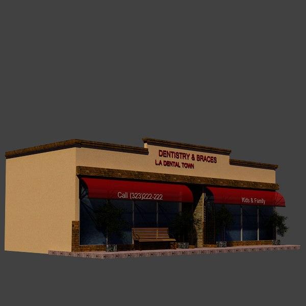 dentist shop 3d max