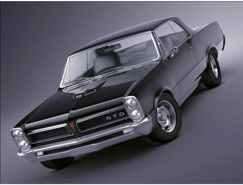 3d pontiac gto 1965 model