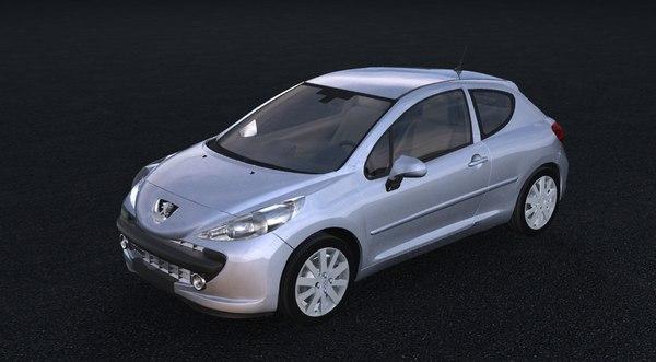 peugeot 207 2005 3d model