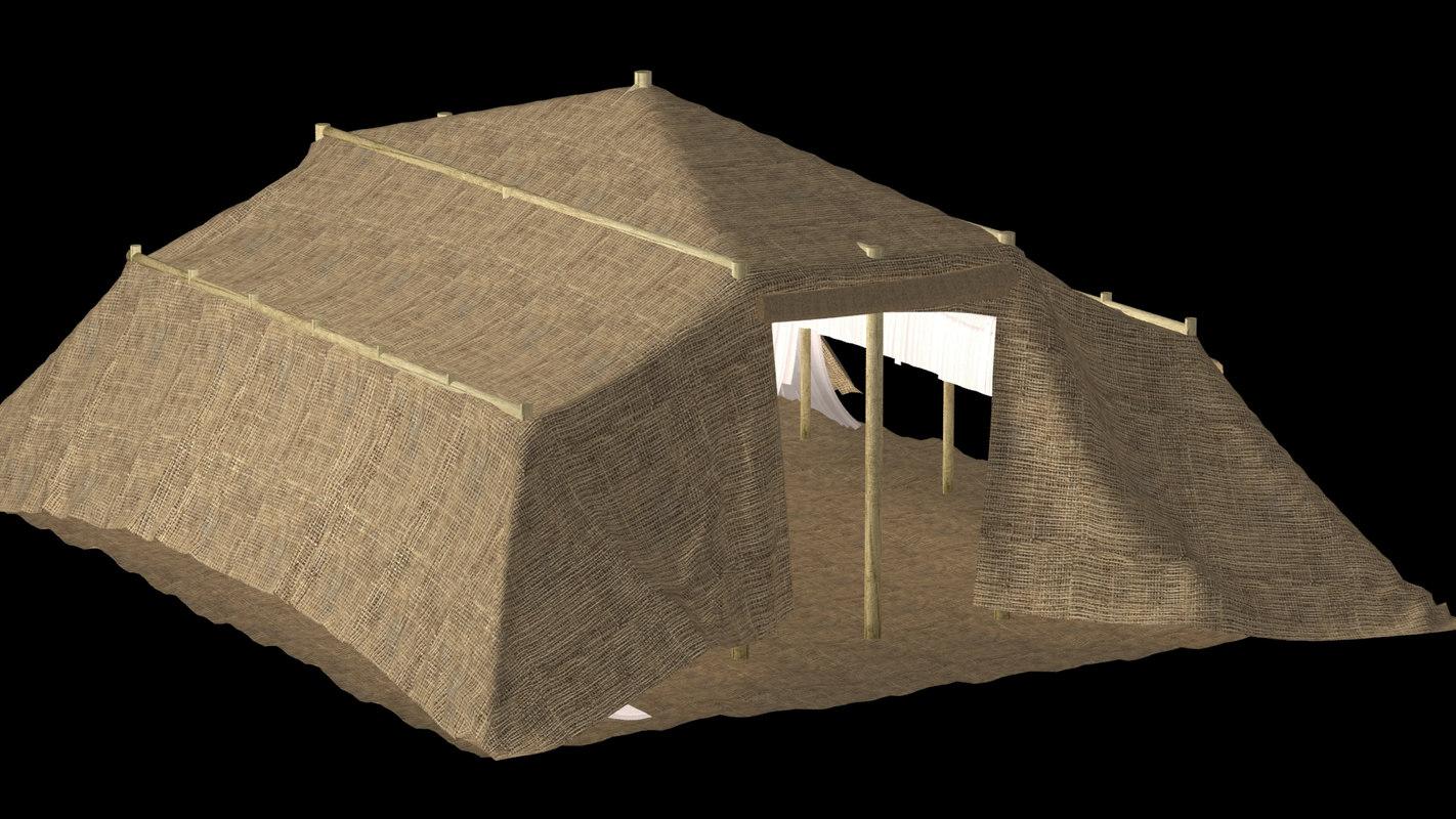 3d model of bedouin tent