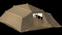 3d model of bedouin tent