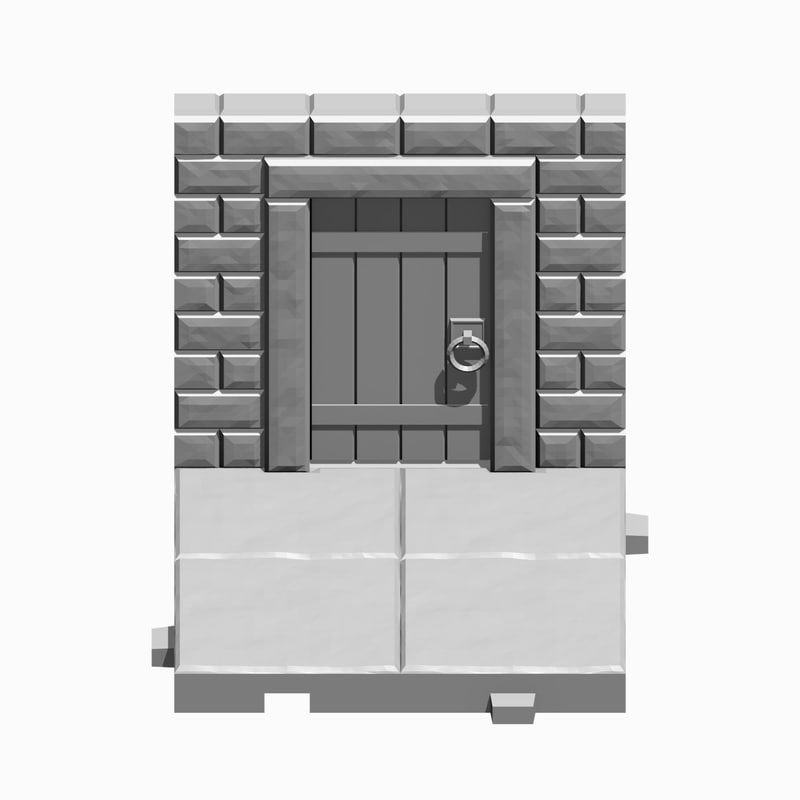3d model dungeon tile wall