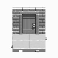 Dungeon Tile Wall with Door